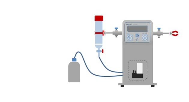 Laboratory shaker with integated vacuum pump